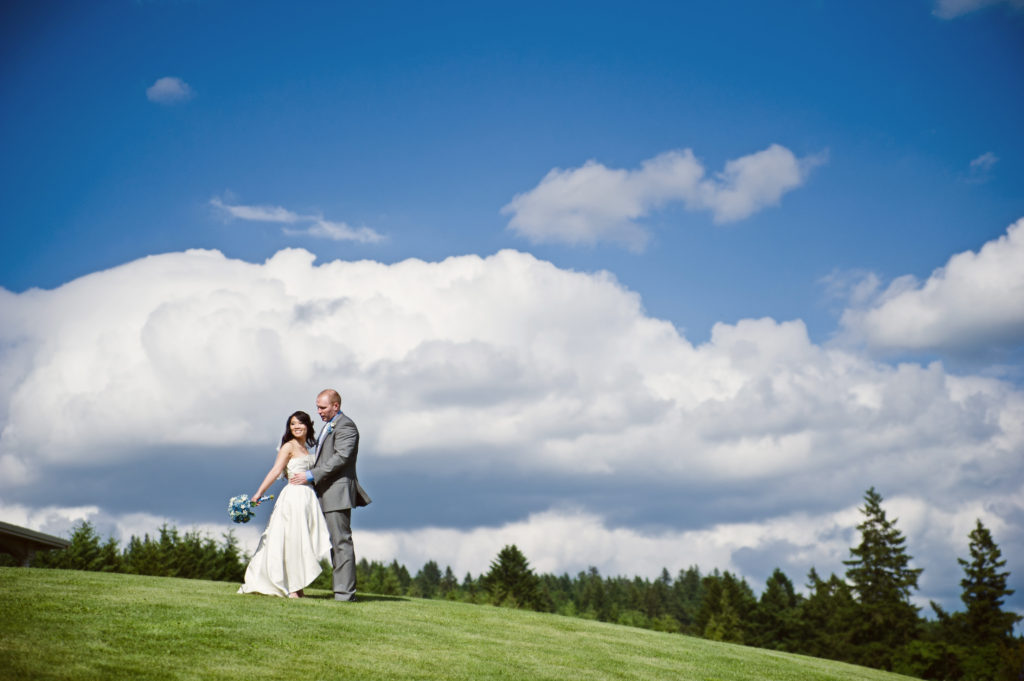 bride & groom at wildwood vineyards