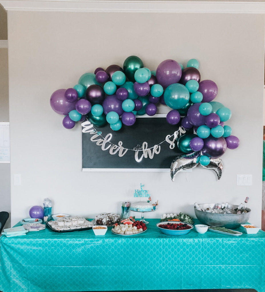 mermaid balloon arch